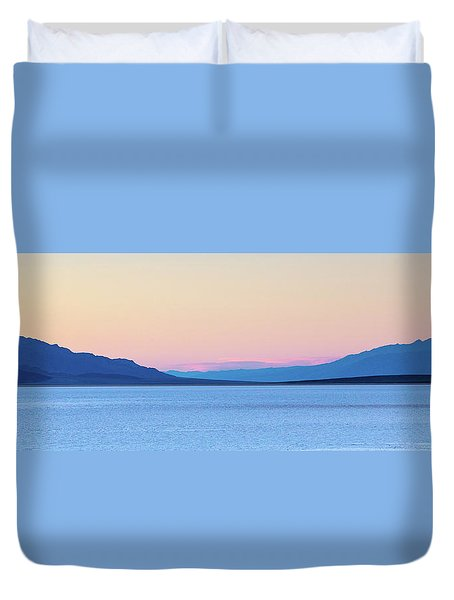 Badwater - Death Valley Duvet Cover by Peter Tellone