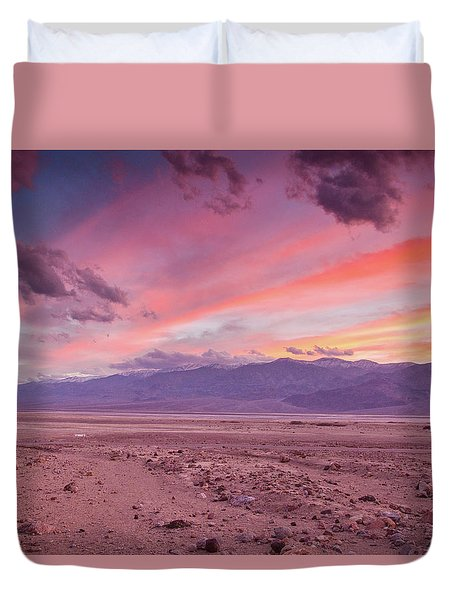 Badwater Sunset Duvet Cover