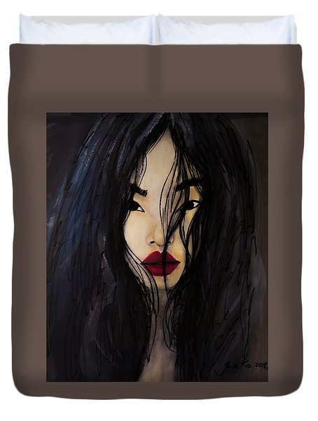 Bae Yoon Young At Backstage Duvet Cover by Jarko Aka Lui Grande