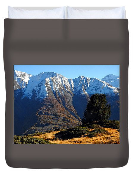 Baettlihorn In Valais, Switzerland Duvet Cover