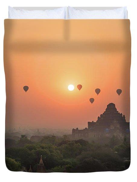 Bagan Temple Duvet Cover