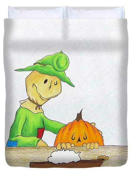 Baggs And Boo Canned Pumpkin Duvet Cover