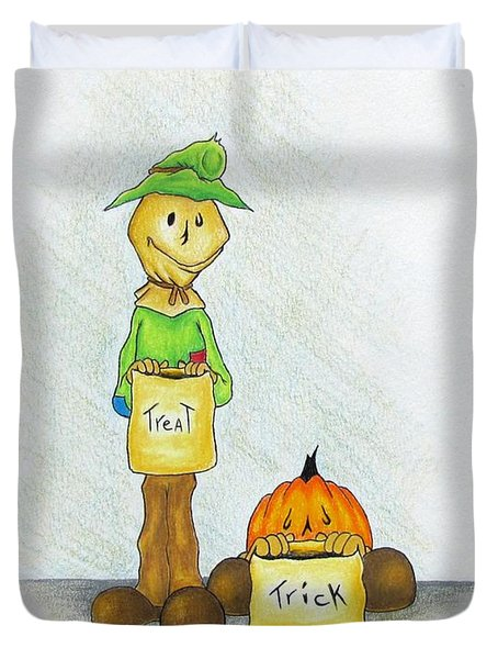 Baggs And Boo Treat Or Trick Duvet Cover