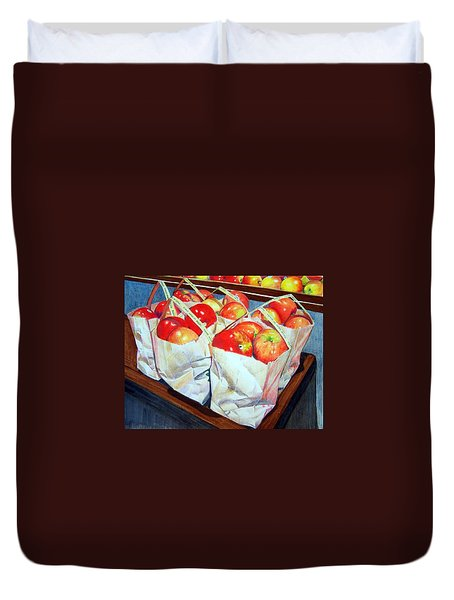 Bags Of Apples Duvet Cover