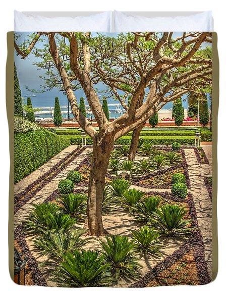 Bahai Gardens In Haifa 1 Duvet Cover