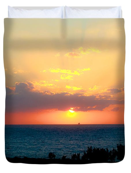 Bahamas Sunset Duvet Cover