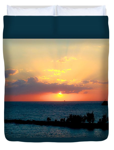 Bahamas Sunset Duvet Cover