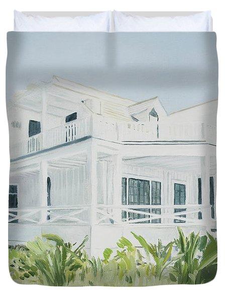 Bahamian House, 2004 Duvet Cover