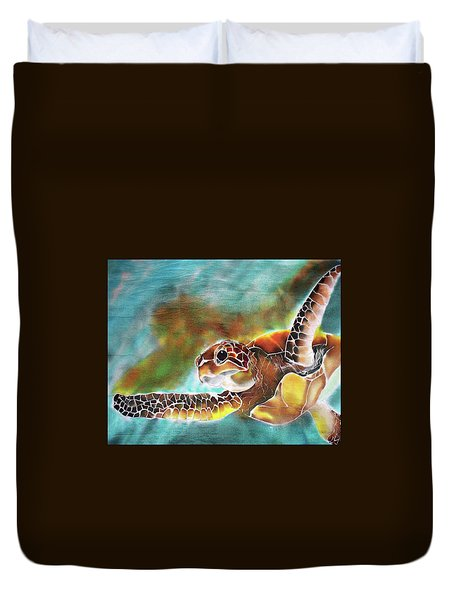 Bahamian Turtle Dove Duvet Cover
