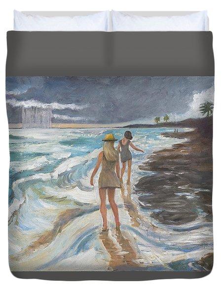 Bahia Honda Beach Duvet Cover