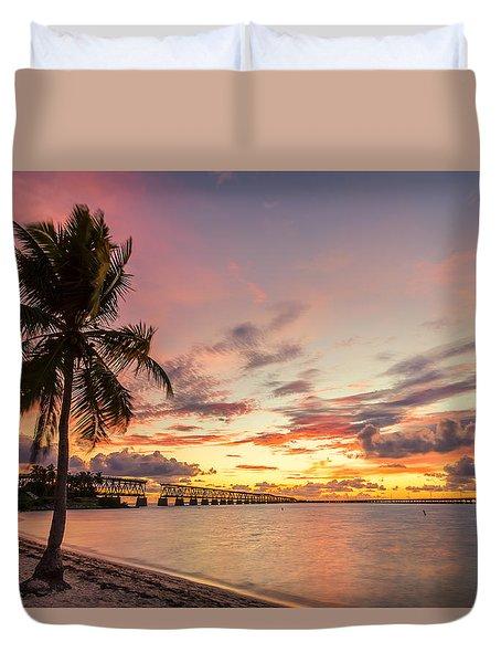 Bahia Honda State Park Sunset Duvet Cover