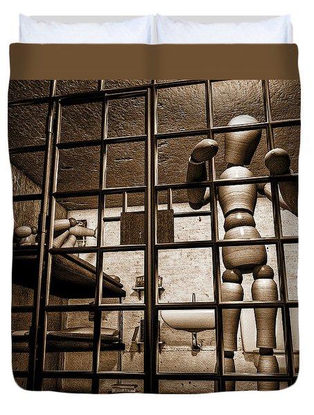 Bail Denied  Duvet Cover by Bob Orsillo