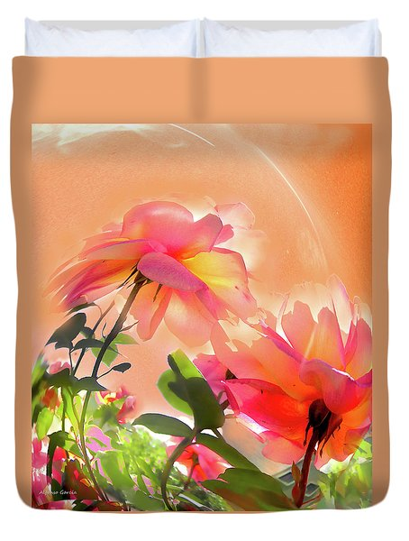 Duvet Cover featuring the photograph Baile Floral by Alfonso Garcia