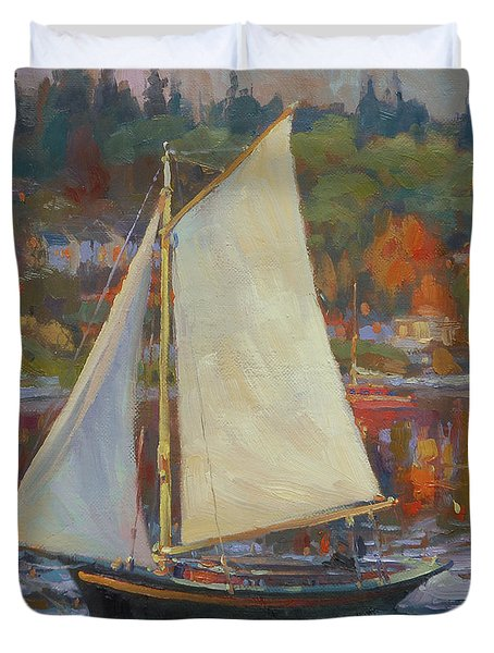 Bainbridge Island Sail Duvet Cover