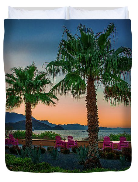 Baja Sunset Duvet Cover