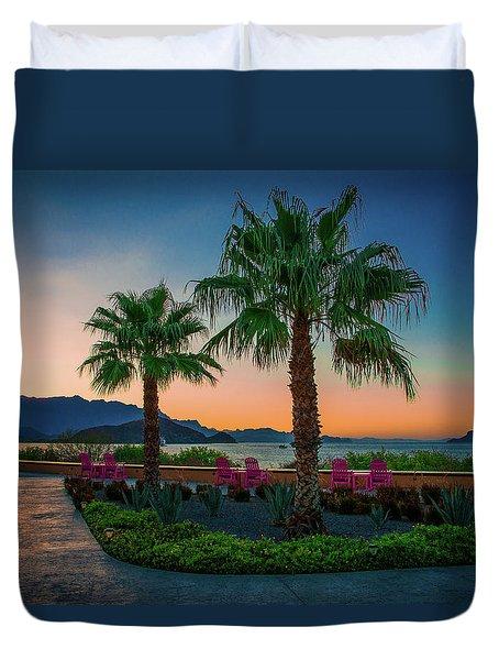 Baja Sunset Duvet Cover