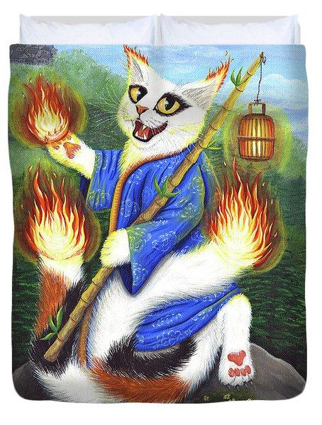 Bakeneko Nekomata - Japanese Monster Cat Duvet Cover