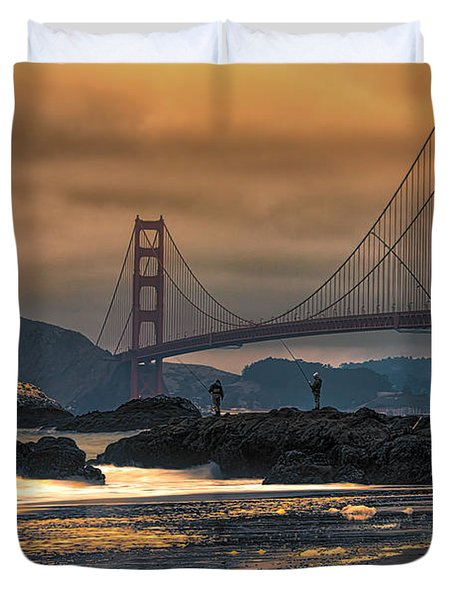 Baker Beach Golden Gate Duvet Cover