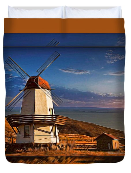 Baker City Windmill_1a Duvet Cover