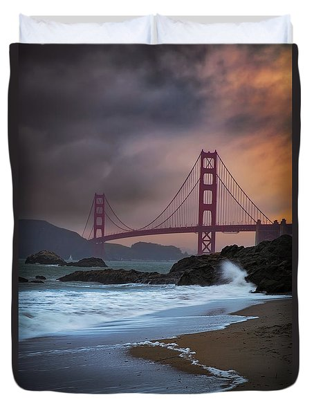 Baker's Beach Duvet Cover