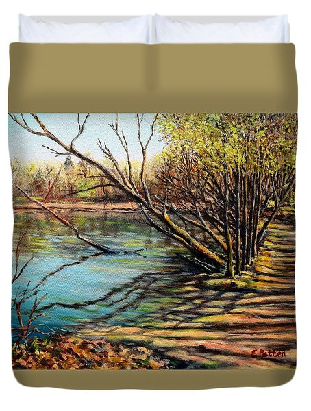 Bakers Pond Ipswich Ma Duvet Cover by Eileen Patten Oliver