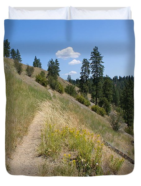 Duvet Cover featuring the photograph Bakery Hill by Ben Upham III
