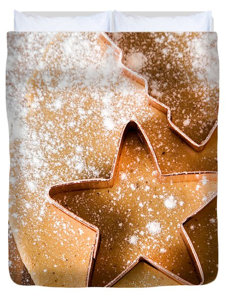 Baking Christmas Cookies Duvet Cover