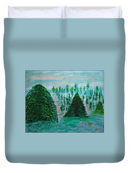 Bakingsoda-vinegar-acrylic-ink And Canvas Duvet Cover by Scott Haley