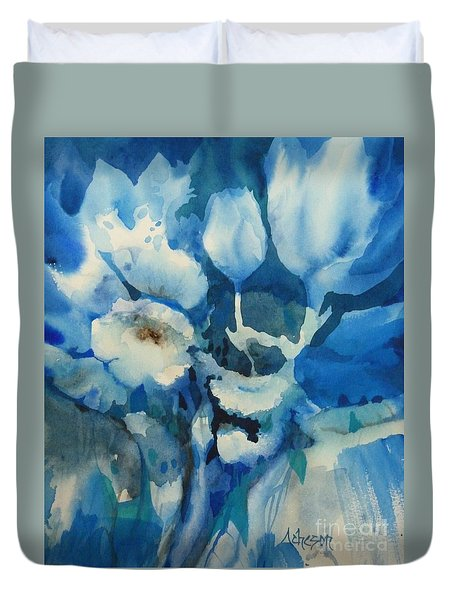 Balade Nocturne Duvet Cover by Donna Acheson-Juillet