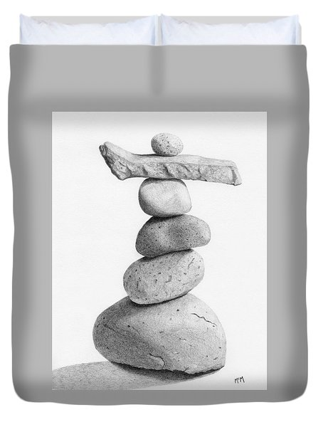 Balance 4  Drawing  Duvet Cover