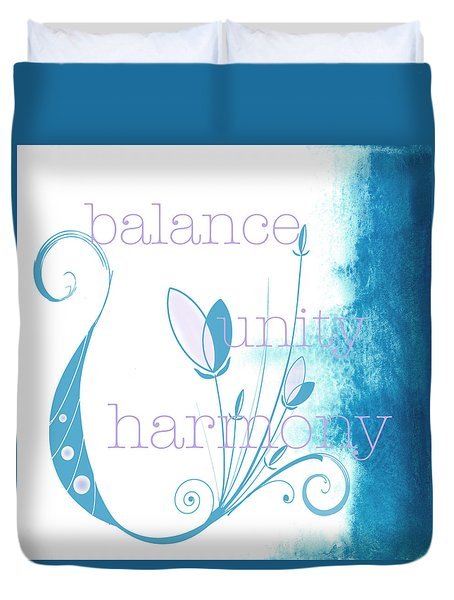 Balance Duvet Cover by Kandy Hurley
