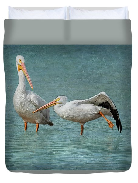 Duvet Cover featuring the photograph Balance by Kim Hojnacki