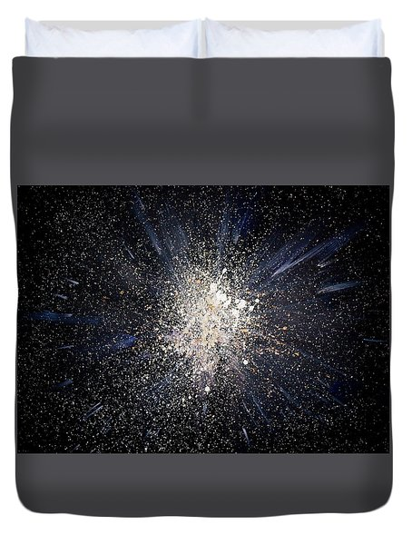 Duvet Cover featuring the painting Balance by Michael Lucarelli