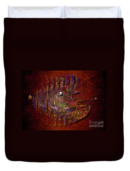 Duvet Cover featuring the digital art Balance Ultramodern by Alexa Szlavics