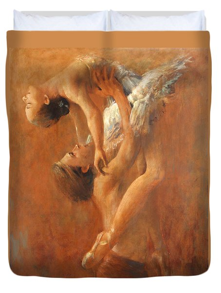 Balance In The Couple. Dance Painting .ballet.  Duvet Cover