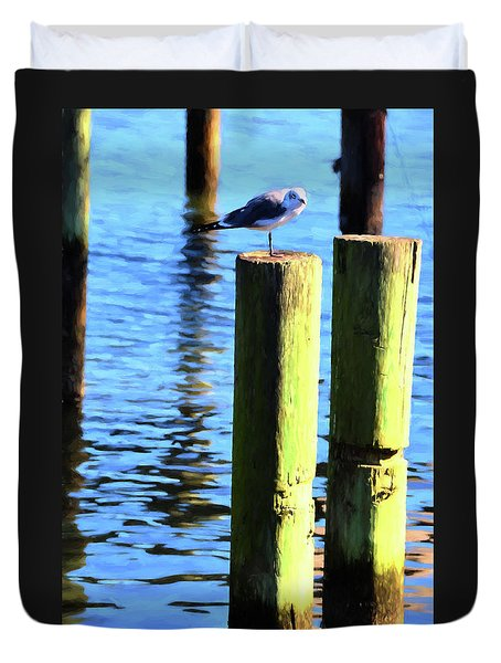 Duvet Cover featuring the photograph Balanced by Jan Amiss Photography