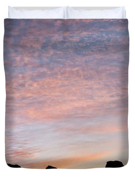 Balanced Rock At Sunrise Duvet Cover