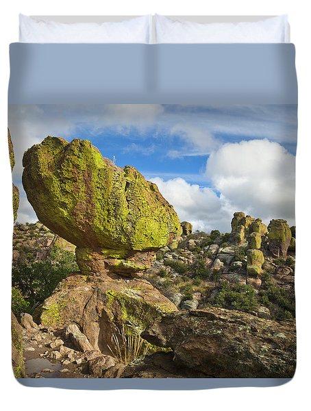 Balanced Rock Formation Duvet Cover