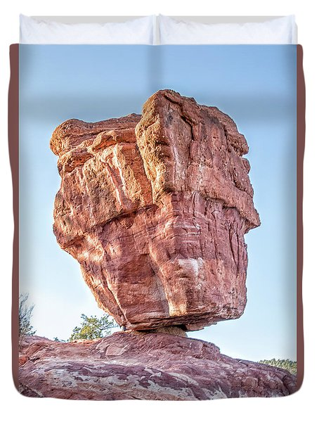 Balanced Rock In Garden Of The Gods, Colorado Springs Duvet Cover