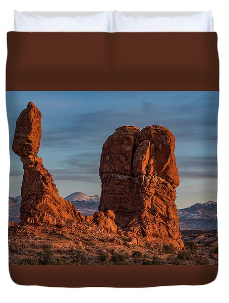 Balanced Rock Sunset Duvet Cover