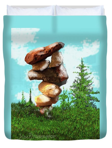 Balanced Rocks #8 Duvet Cover