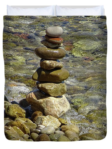 Balanced Rocks Duvet Cover