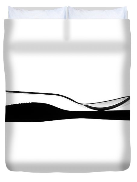 Duvet Cover featuring the photograph Balancing Spoon by Gert Lavsen