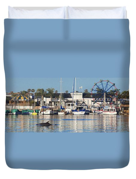 Balboa Dolphin Duvet Cover by Sean Davey