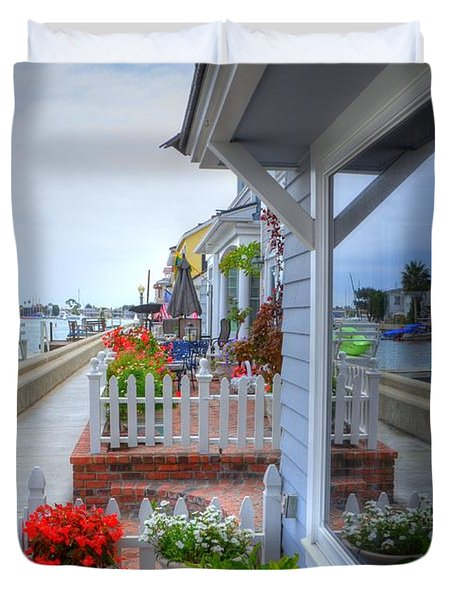 Balboa Island Beach House 2 Duvet Cover