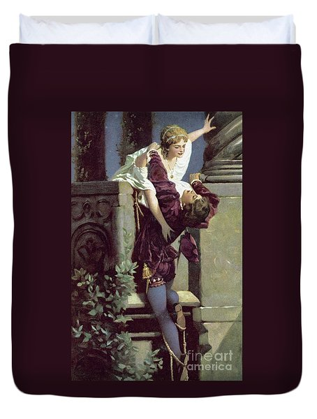 Balcony Scene, Romeo And Juliet Duvet Cover