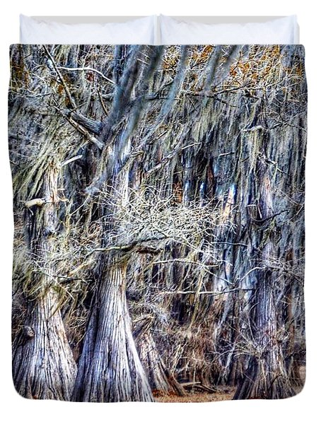 Bald Cypress In Caddo Lake Duvet Cover
