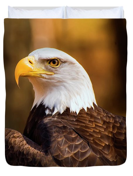 Bald Eagle 2 Duvet Cover by Chris Flees