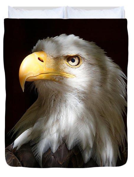 Bald Eagle Closeup Portrait Duvet Cover