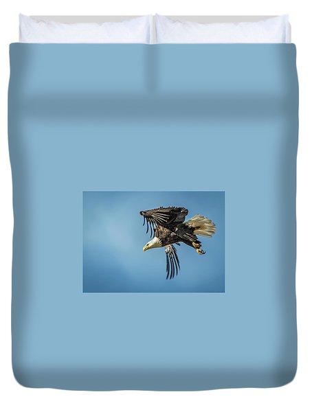 Bald Eagle Flight 1 Duvet Cover